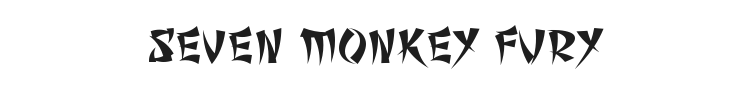 Seven Monkey Fury Font Preview