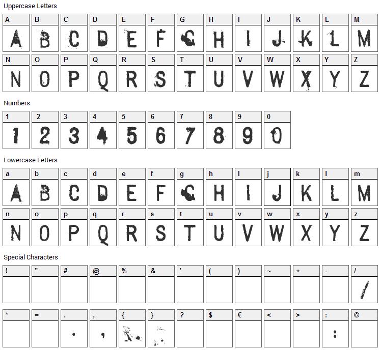 Sexton Sans Font Character Map