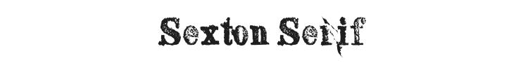 Sexton Serif Font Preview