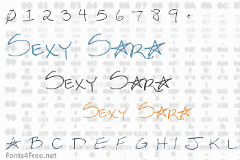 Sexy Sara Font