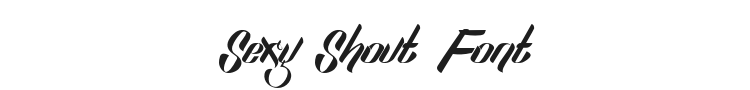 Sexy Shout Font Preview