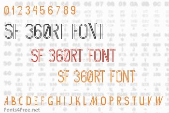 SF 360RT Font
