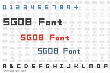 SG08 Font