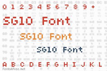 SG10 Font