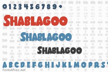 Shablagoo Font