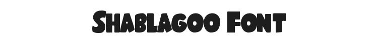 Shablagoo Font Preview