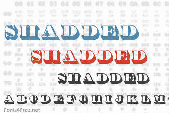Shadded Font