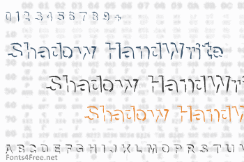 Shadow HandWrite Font