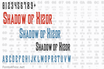 Shadow of Xizor Font