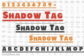 Shadow Tag Font