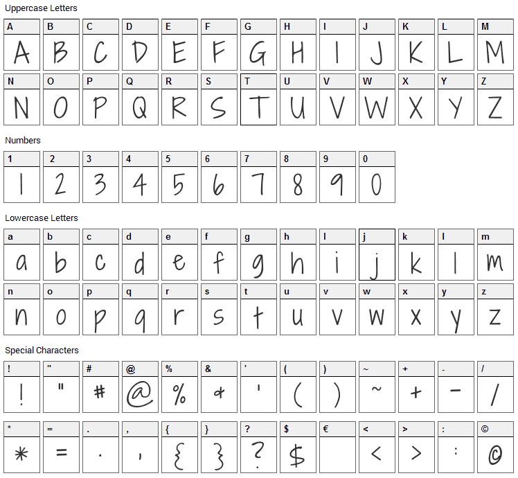 Shadows Into Light Two Font Character Map