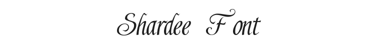 Shardee Font Preview