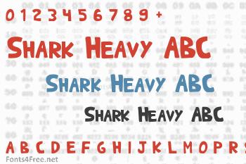 Shark Heavy ABC Font