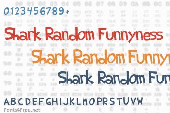Shark Random Funnyness Font