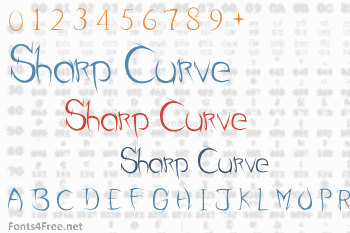Sharp Curve Font