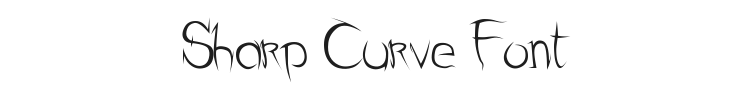 Sharp Curve Font Preview