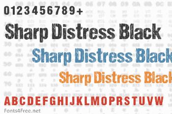 Sharp Distress Black Font