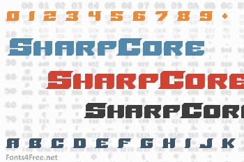SharpCore Font