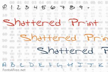 Shattered Print Font