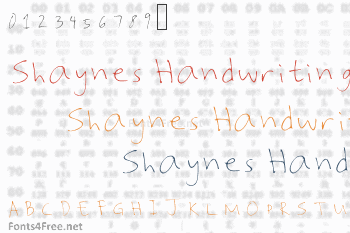 Shaynes Handwriting Font