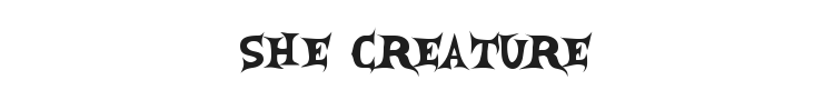 She Creature Font Preview