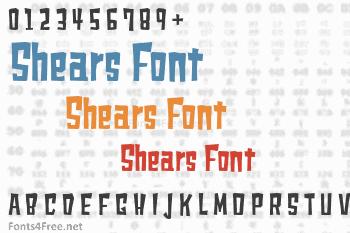 Shears Font