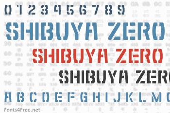 Shibuya Zero Font