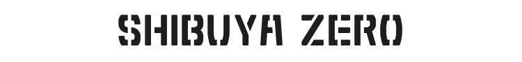 Shibuya Zero Font Preview