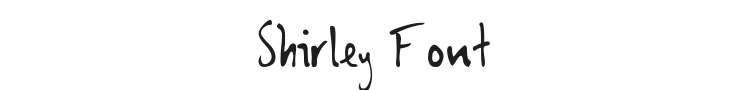 Shirley Font Preview