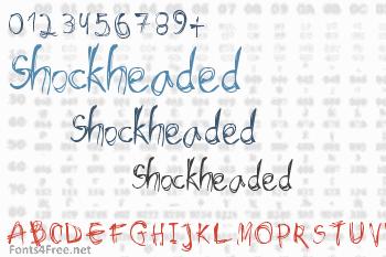 Shockheaded Font