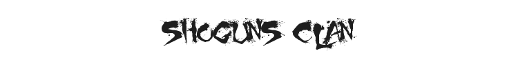 Shoguns Clan Font Preview