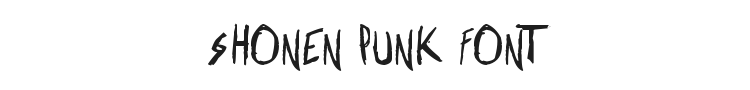 Shonen Punk Font Preview