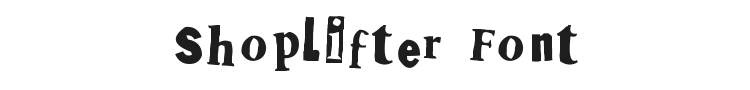 Shoplifter Font Preview