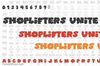 Shoplifters Unite Font