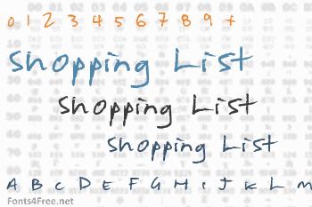 Shopping List Font