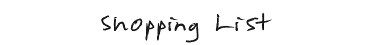 Shopping List Font Preview