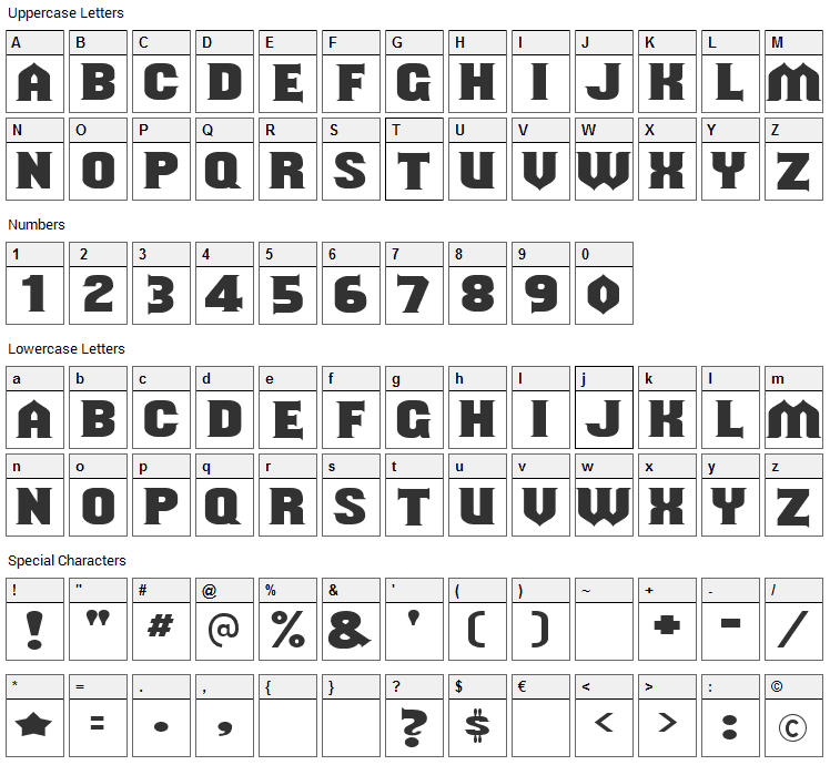Shouldve Known Font Character Map