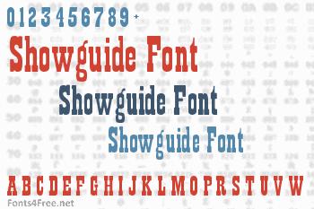 Showguide Font