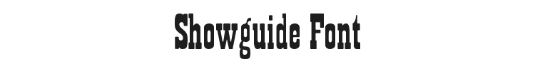 Showguide Font Preview