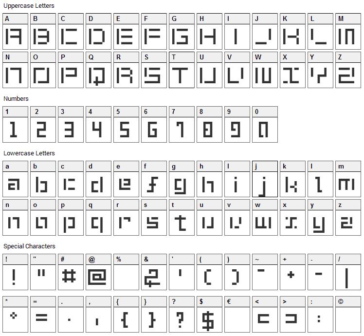 Shuin Sans Font Character Map