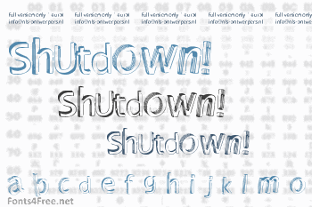 Shutdown! Font