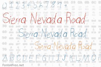 Sierra Nevada Road Font