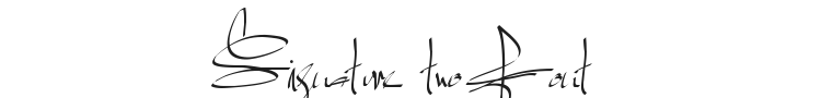 Signature two Font Preview
