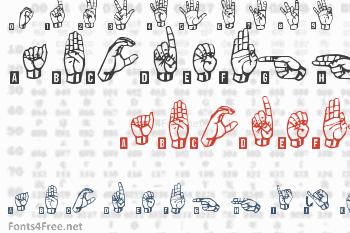 Signs Language Font