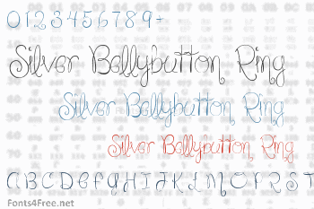 Silver Bellybutton Ring Font