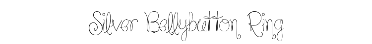 Silver Bellybutton Ring Font Preview