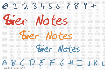 Silver Notes Font