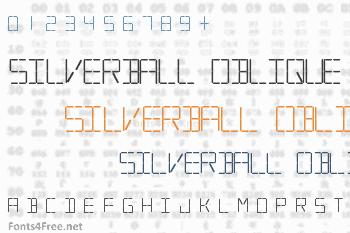 Silverball Oblique Font