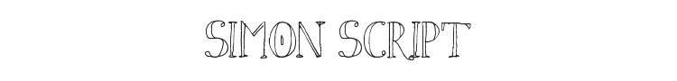 Simon Script Font Preview