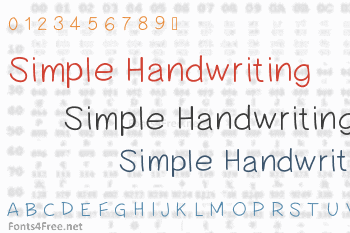 Simple Handwriting Font